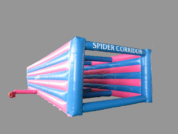 spider corridor course obstacle gonflable