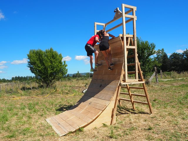 trampo filet course obstacle ninja